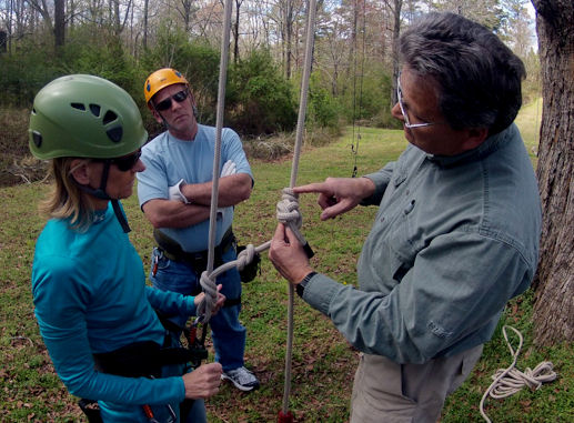 tree climbing class, the climbing knot